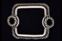 Forma cuadrada dos anillas