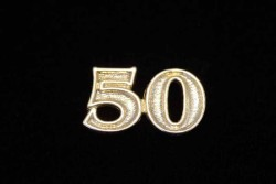 Numero 50 dorado