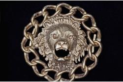 León con cadena