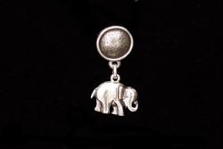 Pendiente botón con elefante